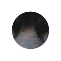 black to gray fade Magnet 3  (Round)