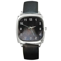 black to gray fade Square Metal Watch