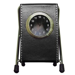 black to gray fade Pen Holder Desk Clock