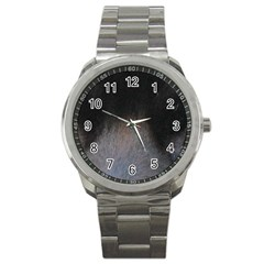 black to gray fade Sport Metal Watch