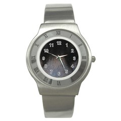 black to gray fade Stainless Steel Watch