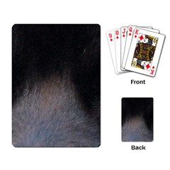 black to gray fade Playing Cards Single Design