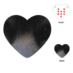 black to gray fade Playing Cards (Heart)