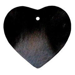 black to gray fade Heart Ornament (Two Sides)