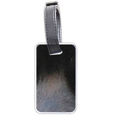 black to gray fade Luggage Tag (one side)