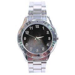 black to gray fade Stainless Steel Analogue Watch