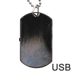 black to gray fade Dog Tag USB Flash (One Side)