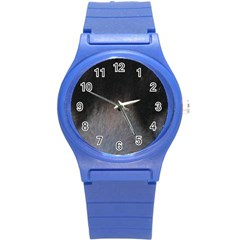 black to gray fade Round Plastic Sport Watch (S)