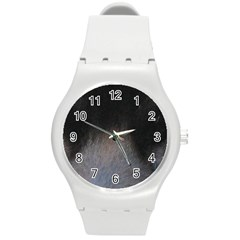 black to gray fade Round Plastic Sport Watch (M)