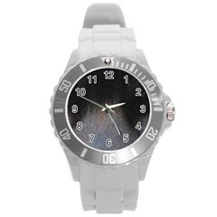 black to gray fade Round Plastic Sport Watch (L)