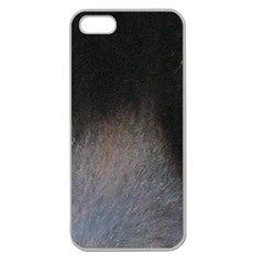 black to gray fade Apple Seamless iPhone 5 Case (Clear)