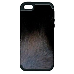 black to gray fade Apple iPhone 5 Hardshell Case (PC+Silicone)
