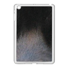 black to gray fade Apple iPad Mini Case (White)