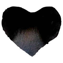 black to gray fade Large 19  Premium Heart Shape Cushion