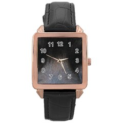 black to gray fade Rose Gold Leather Watch