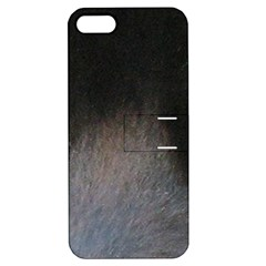 black to gray fade Apple iPhone 5 Hardshell Case with Stand