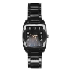 black to gray fade Stainless Steel Barrel Watch