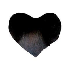 black to gray fade Standard 16  Premium Flano Heart Shape Cushion