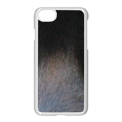 black to gray fade Apple iPhone 7 Seamless Case (White)