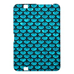 Scales3 Black Marble & Turquoise Marble (r) Kindle Fire Hd 8 9  Hardshell Case