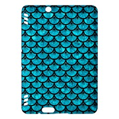 Scales3 Black Marble & Turquoise Marble (r) Kindle Fire Hdx Hardshell Case