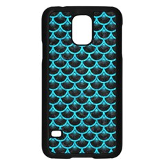 Scales3 Black Marble & Turquoise Marble Samsung Galaxy S5 Case (black)