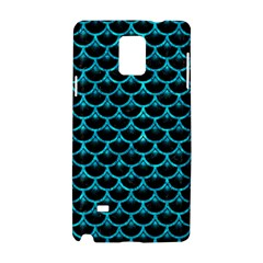 Scales3 Black Marble & Turquoise Marble Samsung Galaxy Note 4 Hardshell Case