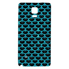 Scales3 Black Marble & Turquoise Marble Samsung Note 4 Hardshell Back Case