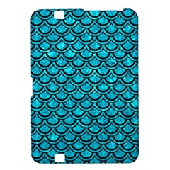 Scales2 Black Marble & Turquoise Marble (r) Kindle Fire Hd 8 9  Hardshell Case