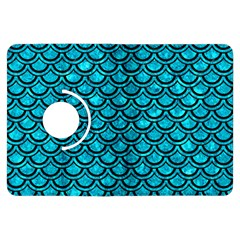 Scales2 Black Marble & Turquoise Marble (r) Kindle Fire Hdx Flip 360 Case