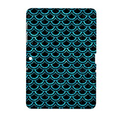 Scales2 Black Marble & Turquoise Marble Samsung Galaxy Tab 2 (10 1 ) P5100 Hardshell Case