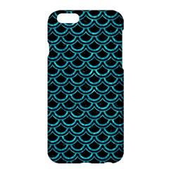 Scales2 Black Marble & Turquoise Marble Apple Iphone 6 Plus/6s Plus Hardshell Case