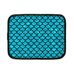 Scales1 Black Marble & Turquoise Marble (r) Netbook Case (small)