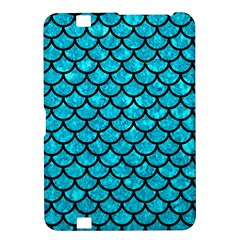Scales1 Black Marble & Turquoise Marble (r) Kindle Fire Hd 8 9  Hardshell Case