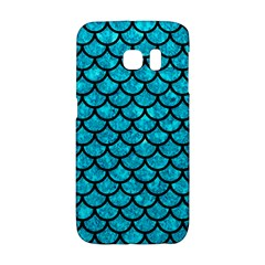 Scales1 Black Marble & Turquoise Marble (r) Samsung Galaxy S6 Edge Hardshell Case