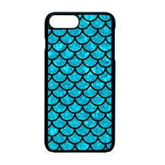 Scales1 Black Marble & Turquoise Marble (r) Apple Iphone 7 Plus Seamless Case (black)