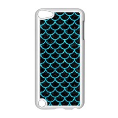 Scales1 Black Marble & Turquoise Marble Apple Ipod Touch 5 Case (white)