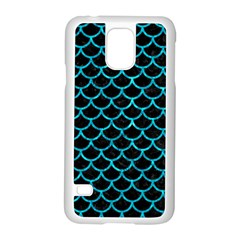 Scales1 Black Marble & Turquoise Marble Samsung Galaxy S5 Case (white)