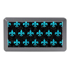 Royal1 Black Marble & Turquoise Marble (r) Memory Card Reader (mini)