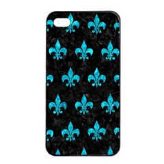 Royal1 Black Marble & Turquoise Marble (r) Apple Iphone 4/4s Seamless Case (black)