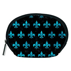 Royal1 Black Marble & Turquoise Marble (r) Accessory Pouch (medium)
