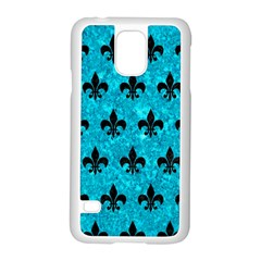 Royal1 Black Marble & Turquoise Marble Samsung Galaxy S5 Case (white)