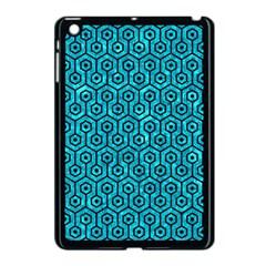 Hexagon1 Black Marble & Turquoise Marble (r) Apple Ipad Mini Case (black)