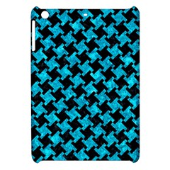 Houndstooth2 Black Marble & Turquoise Marble Apple Ipad Mini Hardshell Case