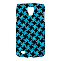 Houndstooth2 Black Marble & Turquoise Marble Samsung Galaxy S4 Active (i9295) Hardshell Case