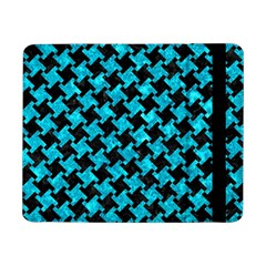 Houndstooth2 Black Marble & Turquoise Marble Samsung Galaxy Tab Pro 8 4  Flip Case