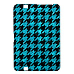 Houndstooth1 Black Marble & Turquoise Marble Kindle Fire Hd 8 9  Hardshell Case