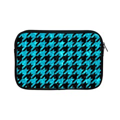Houndstooth1 Black Marble & Turquoise Marble Apple Ipad Mini Zipper Case