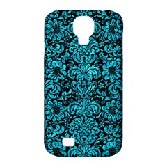 Damask2 Black Marble & Turquoise Marble Samsung Galaxy S4 Classic Hardshell Case (pc+silicone)