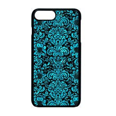 Damask2 Black Marble & Turquoise Marble Apple Iphone 7 Plus Seamless Case (black)